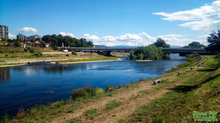 The Ibar river in Kraljevo after the rain