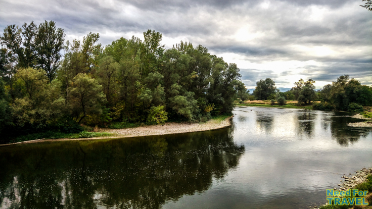 Beautiful landscape of the Western Morava River