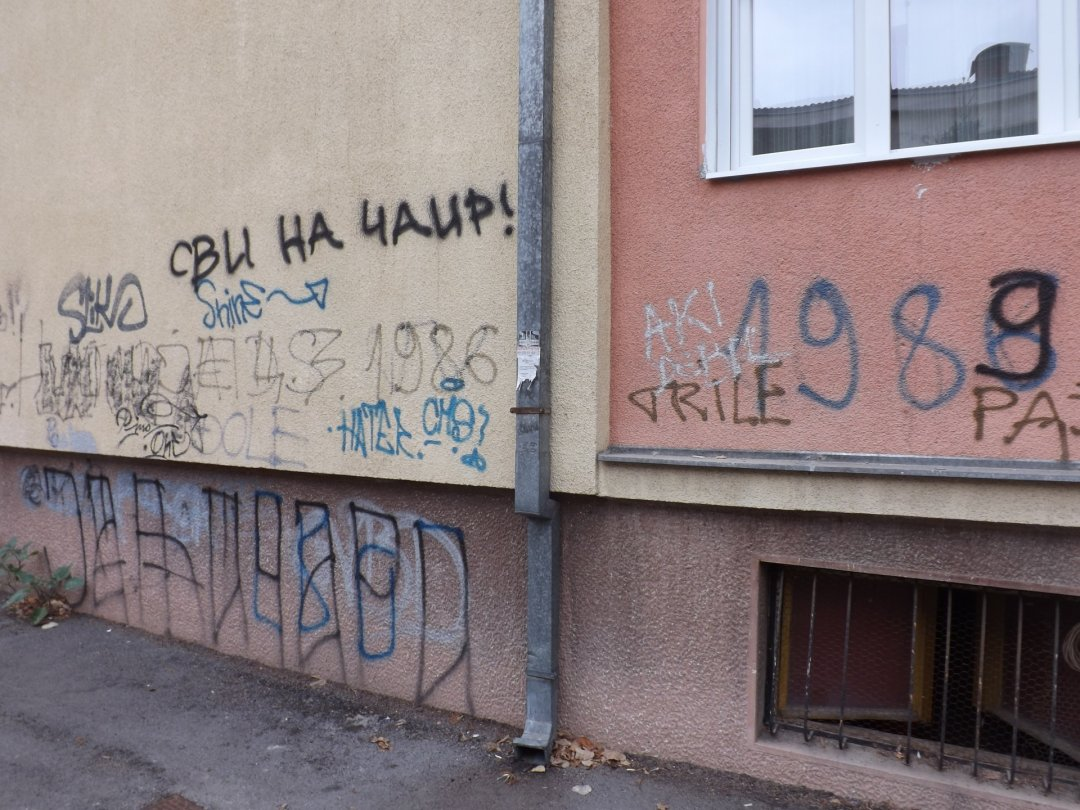 Graffiti on the house