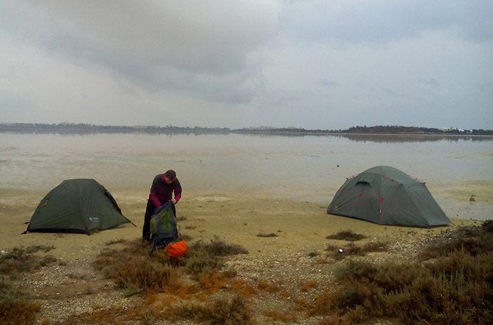 Утро в Ларнаке у Соленого озера